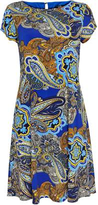 Wallis Blue Paisley Print Swing Dress