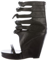 Rick Owens Leather Ankle Strap Wedges