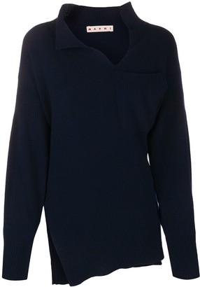 Marni Asymmetric Cashmere Cardigan
