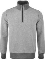 Michael Kors Half Zip Knit Jumper Grey