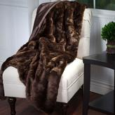 Lavish Home Brown Luxury Long Haired Faux Fur Throw