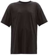 Raey Long-line Cotton-jersey T-shirt - Womens - Black