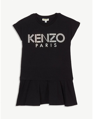 Kenzo Metallic logo cotton-blend dress 4-14 years