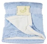 Beansprout Bean Sprout Luxe Mink to Micro Mink Crib Throw Blanket, Blue (Discontinued by Manufacturer)