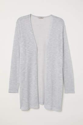 H&M H&M+ Fine-knit Cardigan - Gray