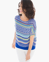 Chico's Textured Borders Two-in-One Top
