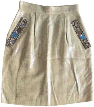 Matthew Williamson Green Tweed Skirt for Women