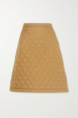 Burberry Quilted Shell Skirt - Camel