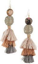 Nakamol Beaded & Tasseled Drop Earrings