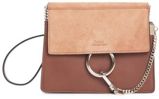 Chloé Faye Leather & Suede Shoulder Bag