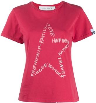 Golden Goose star-motif slogan-print T-shirt