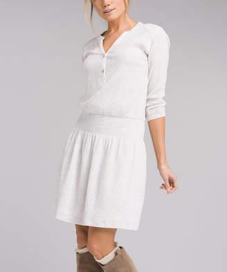 Prana Women's Casual Dresses White - White Bodhi Sugar Pine Organic Cotton Dress - Women