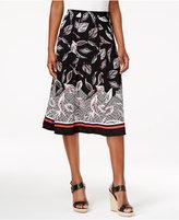 Alfred Dunner Saratoga Springs Leaf-Print Skirt
