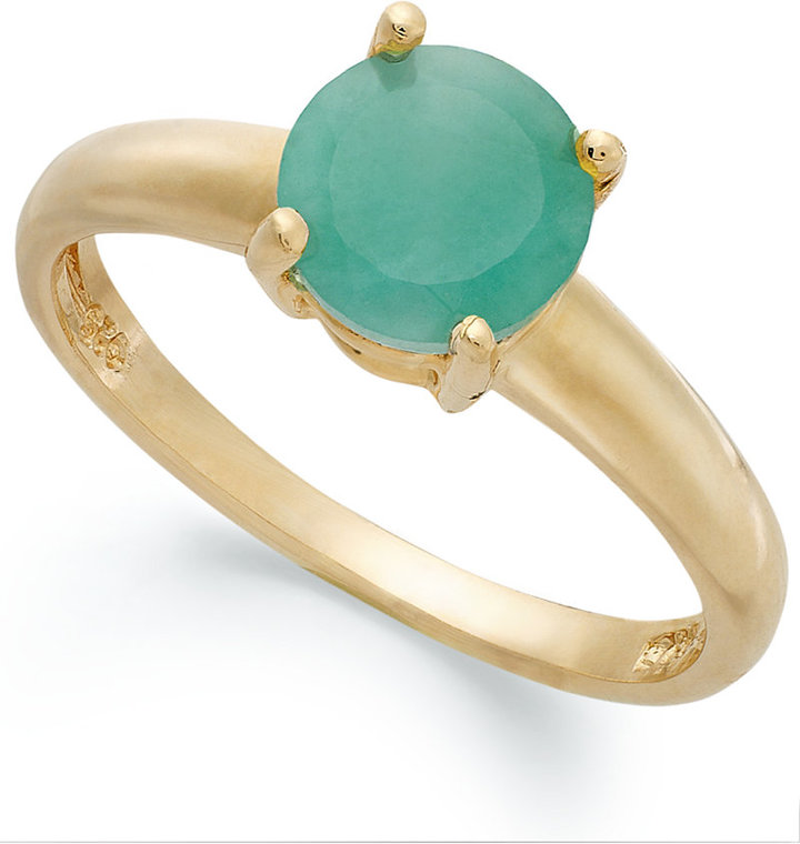 Townsend Victoria 18k Gold over Sterling Silver Ring, Emerald May Birthstone Ring (1-1/2 ct. t.w.)