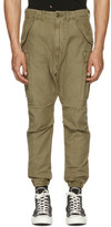 R 13 Green Military Cargo Pants