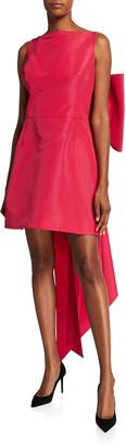 Carolina Herrera Taffeta Bow-Back Mini Dress