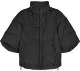 Jil Sander Cropped Shell Down Jacket - Black
