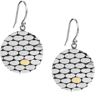 Artisan Crafted Sterling Silver/18K Gold Disc Earrings