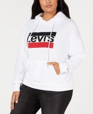 Levi's Trendy Plus Size Logo Fleece Hoodie