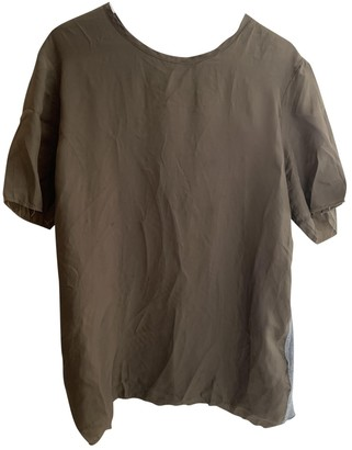 Valentino Brown Cotton T-shirts