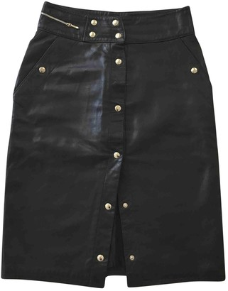 Ohne Titel Black Leather Skirt for Women
