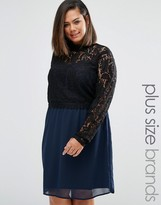 Junarose Plus Tiva Dress With Lace Top