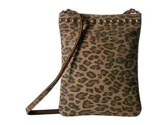 Leather Rock Davina Cell Pouch (Leopard Tan) Cross Body Handbags