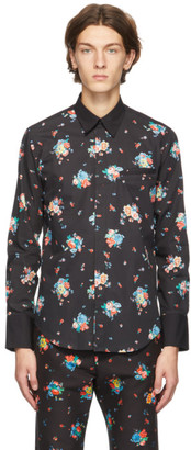 Paco Rabanne Black Floral Print Shirt