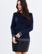Oasis Ruffle V-Neck Sweat