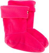 Hunter logo patch slipper socks