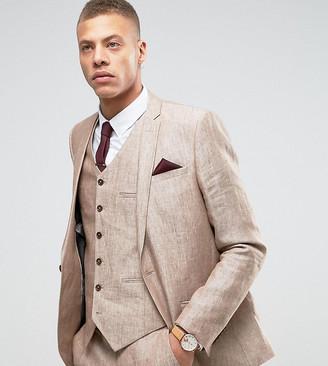Heart N Dagger Skinny Suit Jacket In Linen