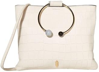THACKER Le Pouch-Beaded Ring Crossbody (Gardenia) Handbags