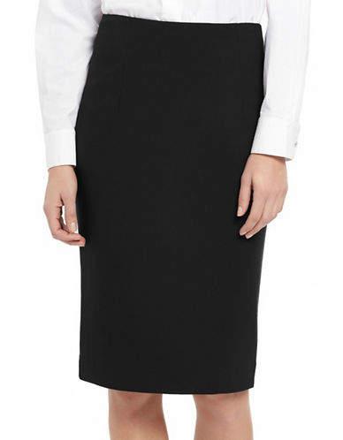 Ellen Tracy Petite High-Waist Pencil Skirt