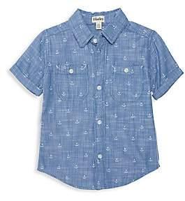 Hatley Little Boy's & Boy's Chambray Anchor Button-Front Shirt