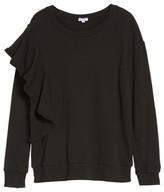 Splendid Women's West Fourth Ruffle Sweatshirt