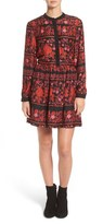 Cupcakes And Cashmere Natalie Floral Print Shirtdress