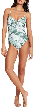 Seafolly Copacabana Tie Front Sweetheart One Piece