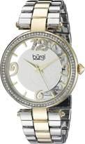 Burgi Women's BUR148TTG Round Dial Three Hand Quartz Bracelet Watch