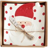Mud Pie Holiday 2-Piece Dotted Santa Cheese Plate & Spreader Set