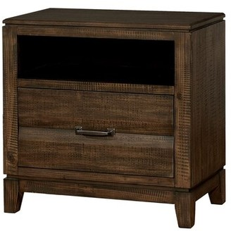 Switzer Transitional Wood Tapered Legs 2 Drawer Nightstand Millwood Pines