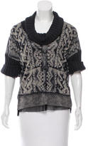 Jean Paul Gaultier Cowl Neck Mesh Top