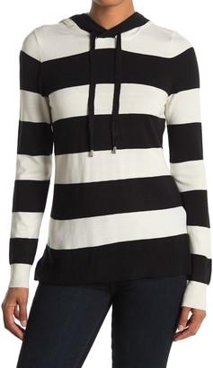 Cyrus Stripe Print Knit Hoodie