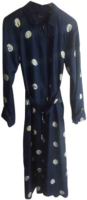 Truenyc. True Nyc Blue Silk Trench coats