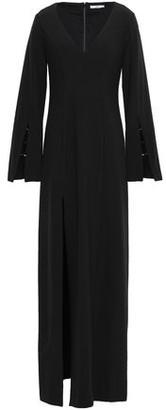 ZAC Zac Posen Embellished One-shoulder Ruffled Crepe-satin Gown