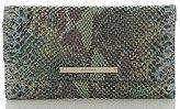 Brahmin Seville Collection Snake-Embossed Soft Checkbook Wallet