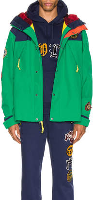 Polo Ralph Lauren Cotton Nylon Blend Anorak in Cruise Navy & Kayak Green | FWRD