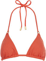 Lazul Orange Jacquard Nubia Bikini Top