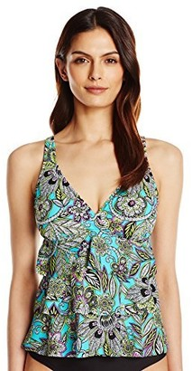 Penbrooke Women's Gypsy Triple Tier Tankini Top