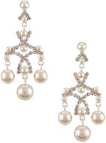 Cezanne Faux-Pearl Chandelier Earrings