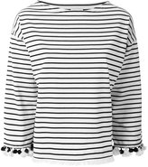 Moncler striped top - women - Cotton - S